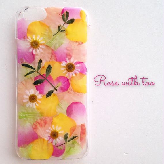 iPhone6/6s用 フラワーアートケース 押し花デザイン 1216_3
