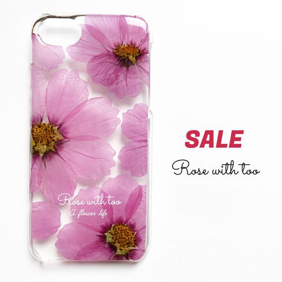 押し花iPhoneケース7/6/6s用 Cosmos  (pink)
