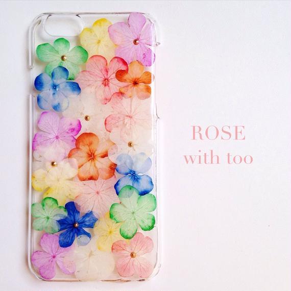 【再販】iPhone6/6s用 フラワーアートケース 押し花デザイン 0917_7 ラメ無し