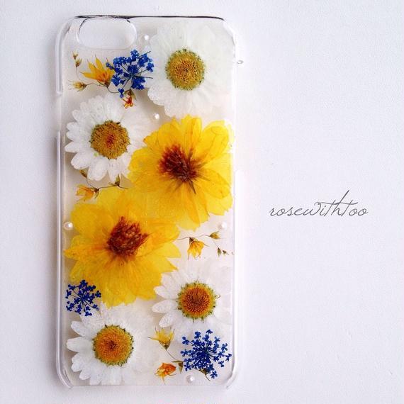 【再販】iPhone6用 フラワーアートケース 押し花デザイン0125_3