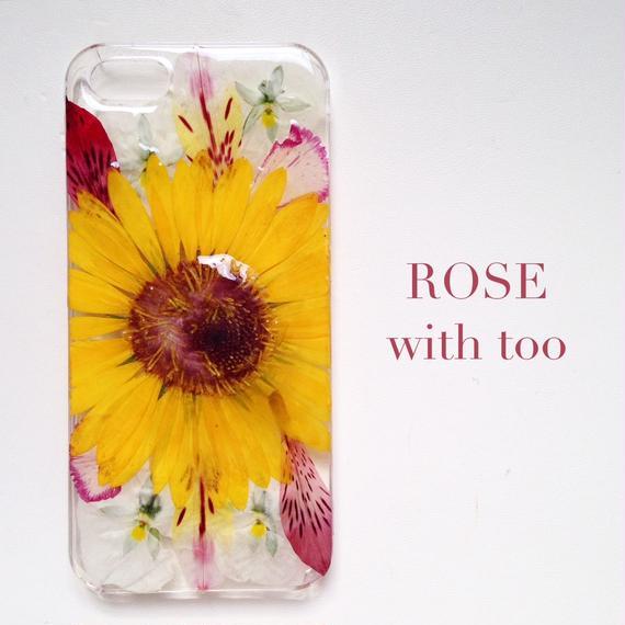 iPhone5/5s用 フラワーアートケース 押し花デザイン 1026_3