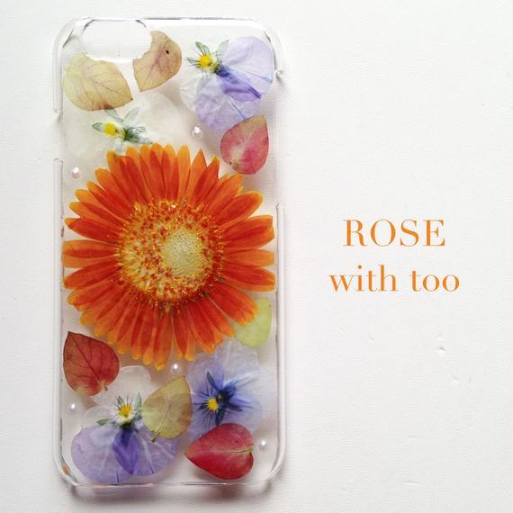 iPhone6/6s用 フラワーアートケース 押し花デザイン 1015_3