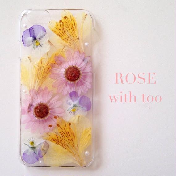 iPhone6/6s用 フラワーアートケース 押し花デザイン 1004_7