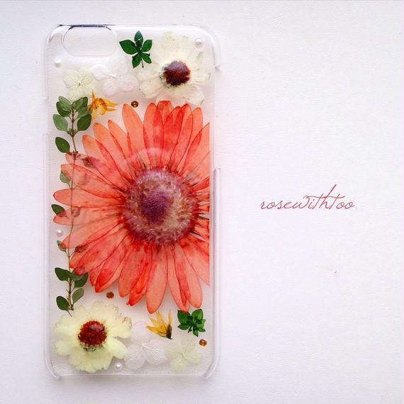 iPhone6用 フラワーアートケース 押し花デザイン0202_2