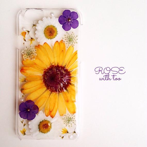 iPhone6用 フラワーアートケース 押し花デザイン1225_3
