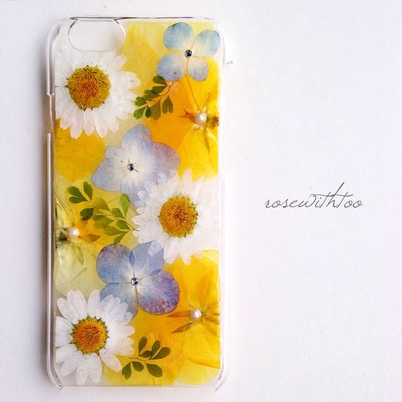 iPhone6用 フラワーアートケース 押し花デザイン0106_2