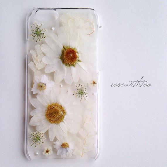 【再販】iPhone6用 フラワーアートケース 押し花デザイン1220_3