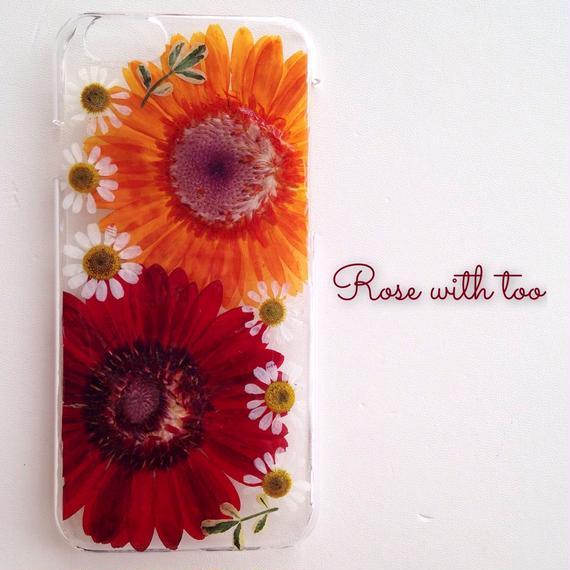 iPhone6/6s用 フラワーアートケース 押し花デザイン 1216_6