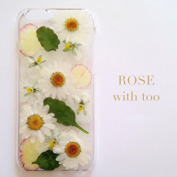 iPhone6/6s用 フラワーアートケース 押し花デザイン 1108_5