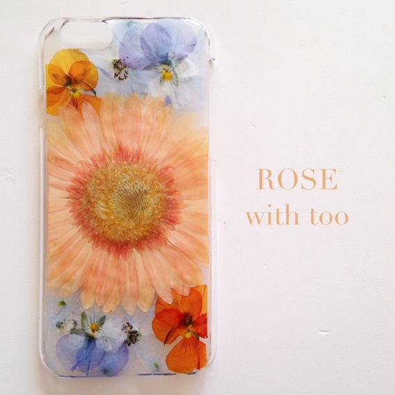 iPhone6/6s用 フラワーアートケース 押し花デザイン 1108_6