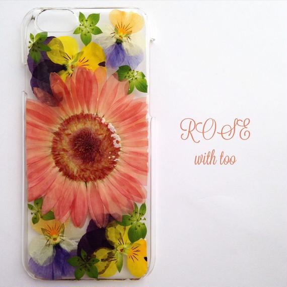 iPhone6/6s用 フラワーアートケース 押し花デザイン 1117_9