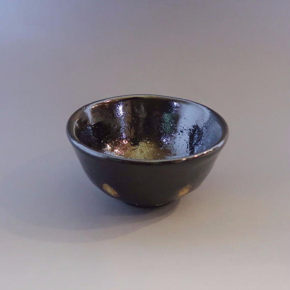 """Chawan"" Green Tea Bowl - Black with Spots"