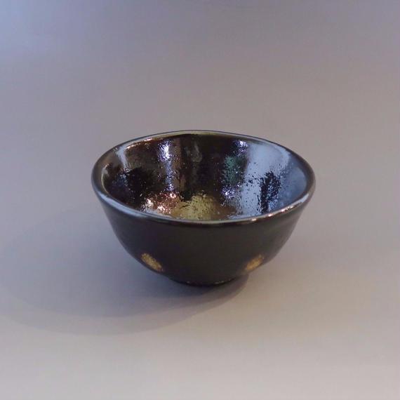 """Chawan"" Green Tea Bowl - Black with Spots"
