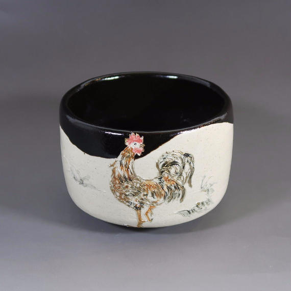 """Chawan"" Green Tea Bowl -    Rooster"