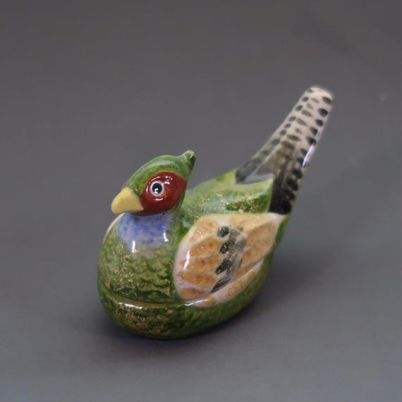 """Kō-gō"" Incense Ball Case - Pheasant"