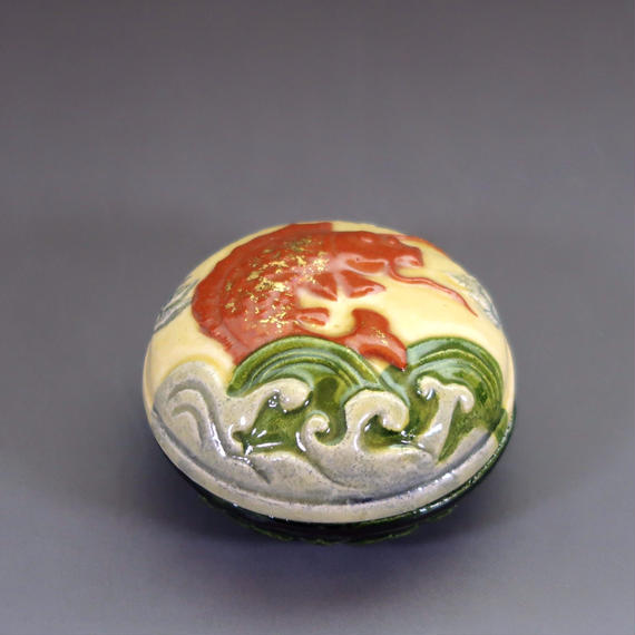 """Kō-gō"" Incense Ball Case - Rough Sea"