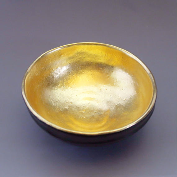 """Chawan"" Green Tea Bowl -                                                   Gold / Black"