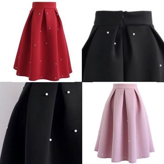 パール付スカート