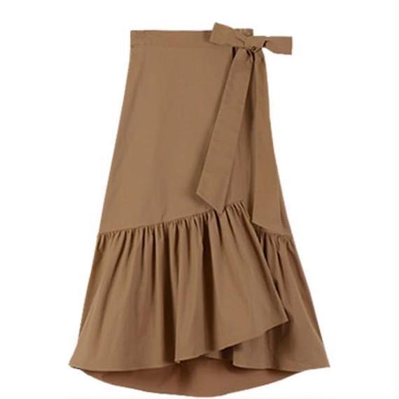 アシンメトリーラップスカート