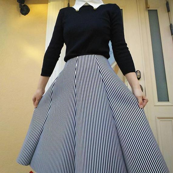 sale!ストライプボンディングスカート