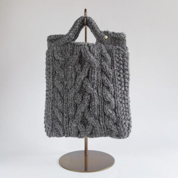 手編みニットBAG Gray