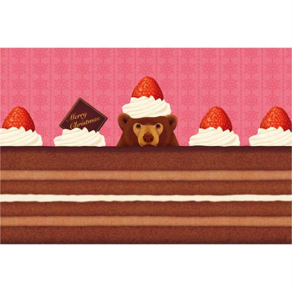 POSTCARD 「食べちゃうの?チョコレートケーキ」