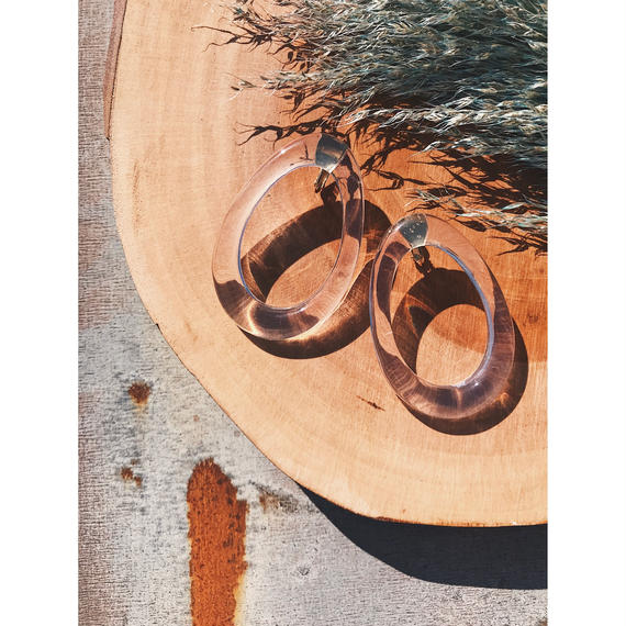 CLEAR CIRCLE PIERCE / EARRING
