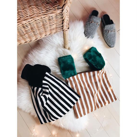 stripe square bag