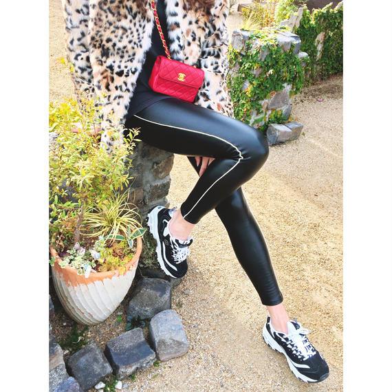 Leather line leggings
