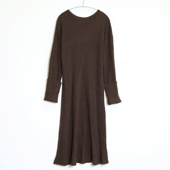 WOOL RIB KNIT ONE-PIECE