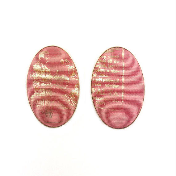 ad print earring(simple type)/terra cotta