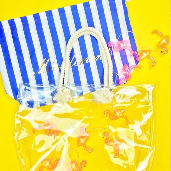 【Summer  Breeze】Beach Bag/large strips