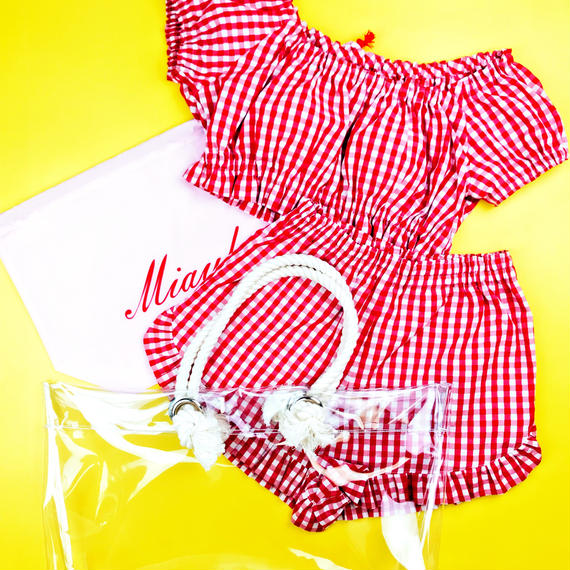 【Summer  Breeze】Beach Bag & Room Wear Set/Red