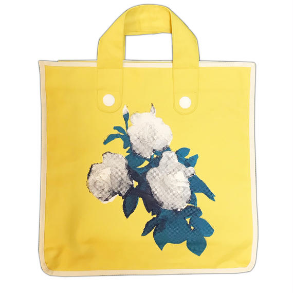 Rose Garden BAG/Mustard(White Line)