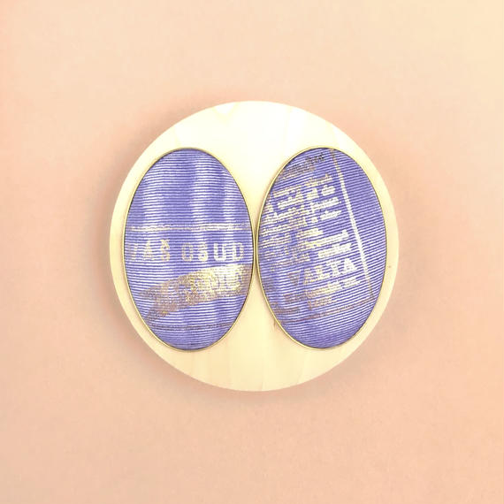 ad print earring(simple type)/lavender