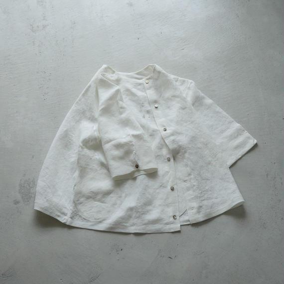 PU46 ベルギーリネンリバーシブルPU/七分袖