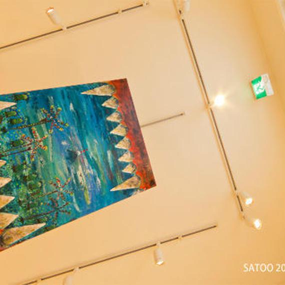 ST004恐竜の口の中から見た風景 ティラノサウルス「あくび」左藤芳美