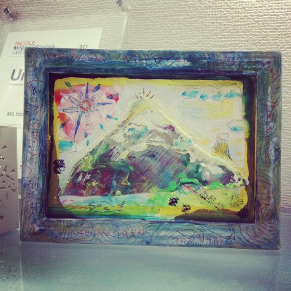 ST052山の絵「サンカクマウンテン」左藤芳美