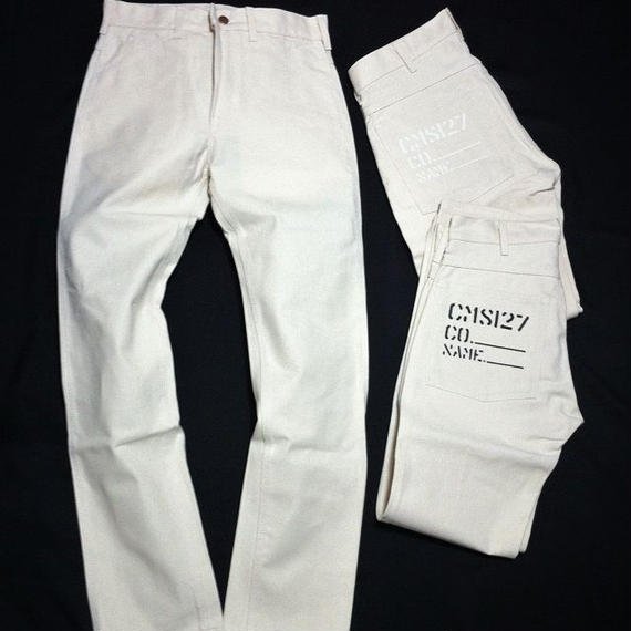 Round House Paint Slim Pants ( Natural Drill )