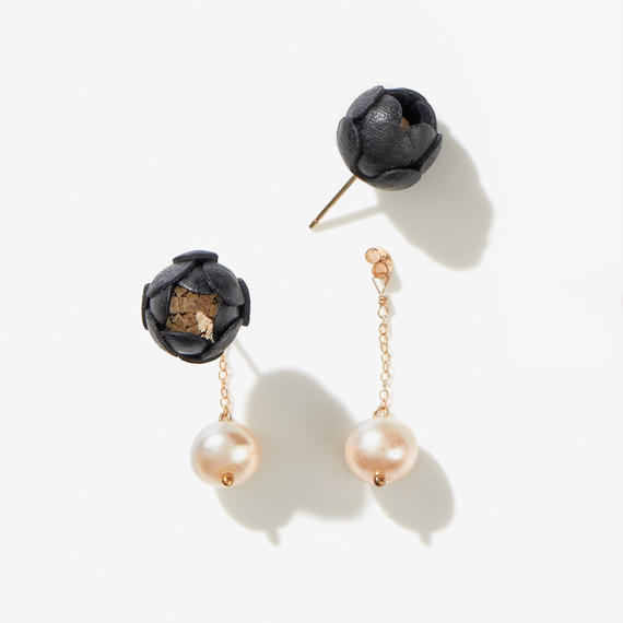 Ichirin Earrings・EarClip イヤリング / black