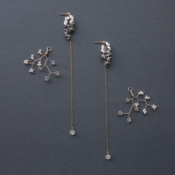 Toki  Earrings - LONG- / eda-S2