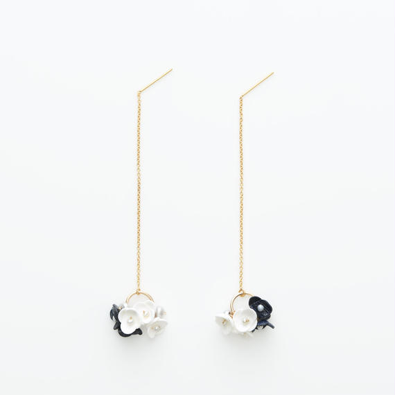 Mari Earrings -navy-