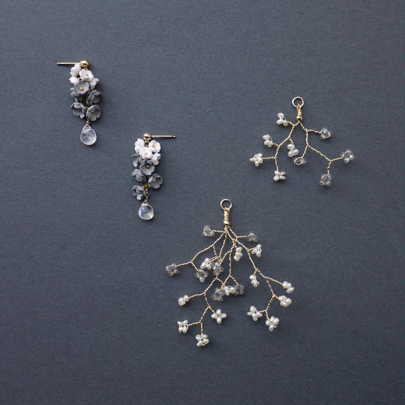 Toki  Earrings - SHORT- / eda-S2