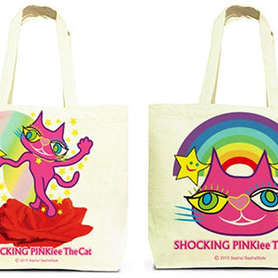 Both Faces Designed Tote Bag (L):  SPTC - Magical Red Rose& Rainbow Wonderland
