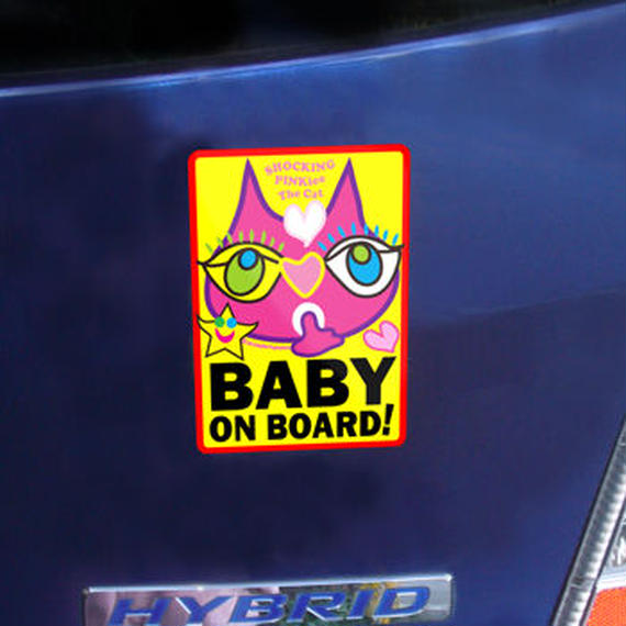 """High Quality & Durable Magnet Sign """"BABY ON BOARD!"""" -  SPTC's Babyhood Special Design Limited"""