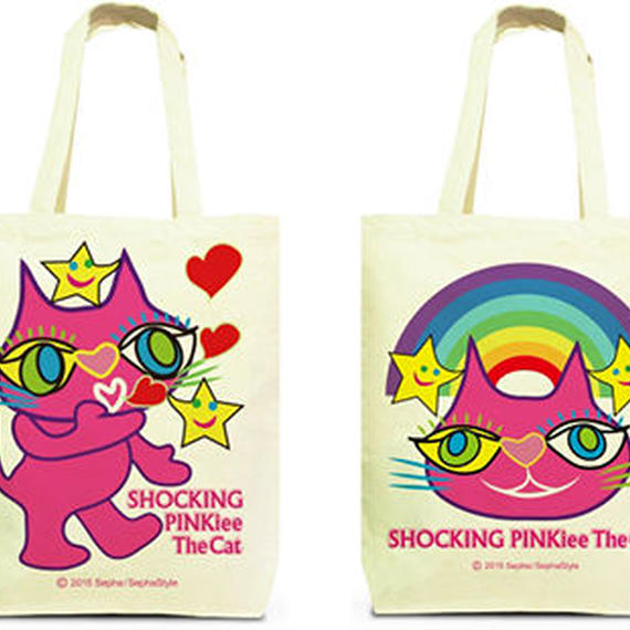 Both Faces Designed Tote Bag (M):  SPTC - Blowing Kisses from Outer Space & Rainbow Woderland