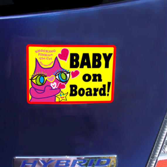 """High Quality & Durable Magnet Sign """"BABY on  Board!"""" -  No whiskers SPTC Special Design Limited"""