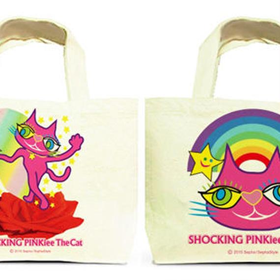 Both Faces Designed Tote Bag (S):  SPTC - Magical Red Rose & Rainbow Wonderland