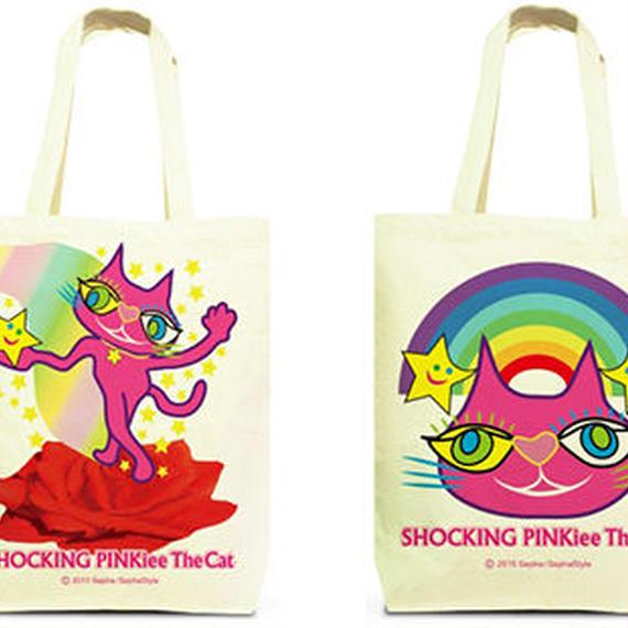 Both Faces Designed Tote Bag (M):  SPTC - Magical Red Rose & Rainbow Wonderland