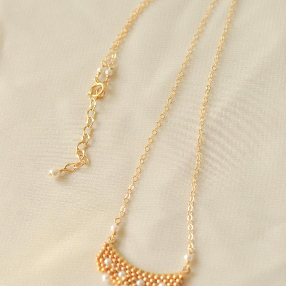 ゴールドフリルのネックレス